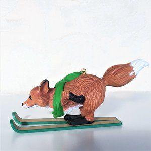 Hallmark Holiday - HALLMARK * Collectors * Skiing Fox Christmas Ornam